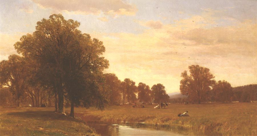 George Henry Smillie (1840-1921), Trees and Meadows of Berkshire, 1871