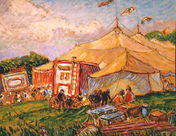 Reynolds Beal (1867-1951), Circus Day, Gloucester, circa 1930