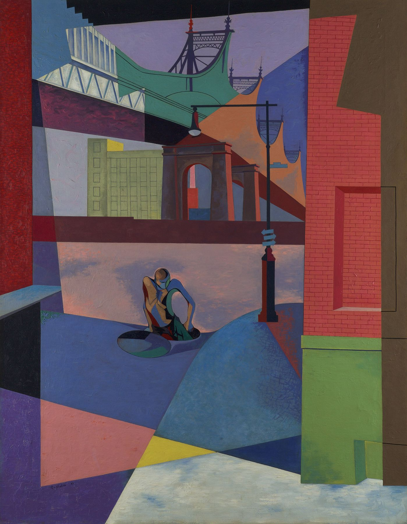 O. Louis Guglielmi (1906-1956), Elements of the Street, 1947