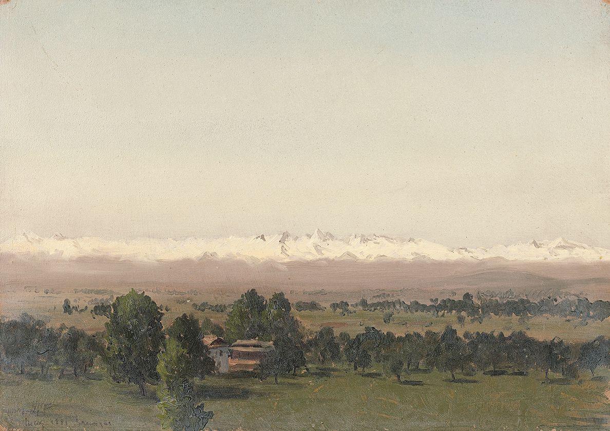 Lockwood de Forest (1850-1932), Himalayan Valley, Kashmir