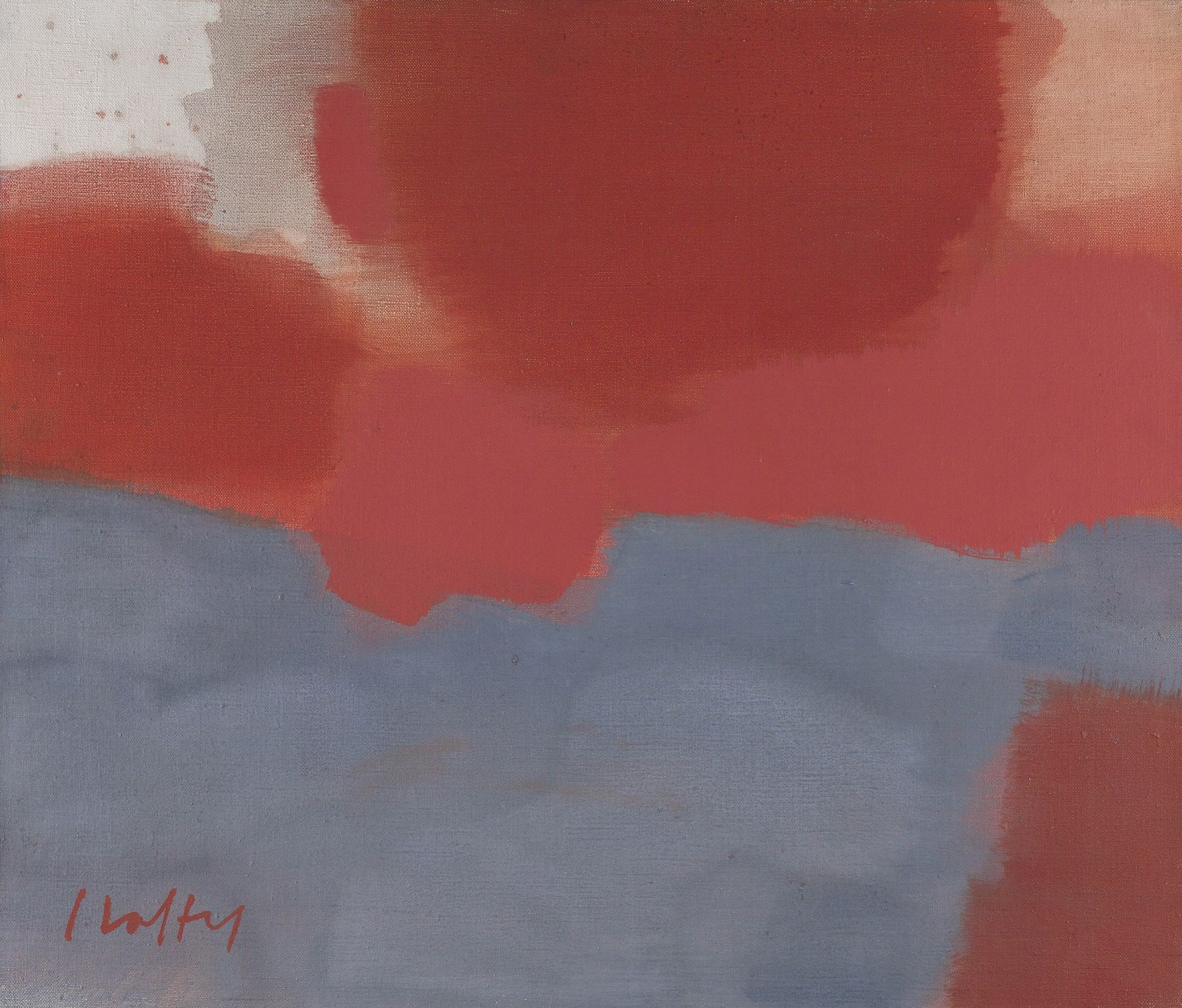 Carl Holty (1900-1973), Untitled (Peach and Gray Abstraction)