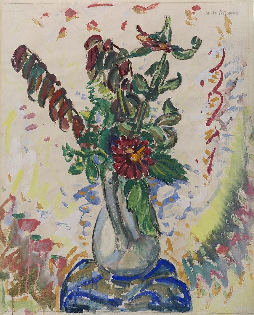 Alfred Henry Maurer (1868-1932), Flowers in a White Pitcher, 1926-8