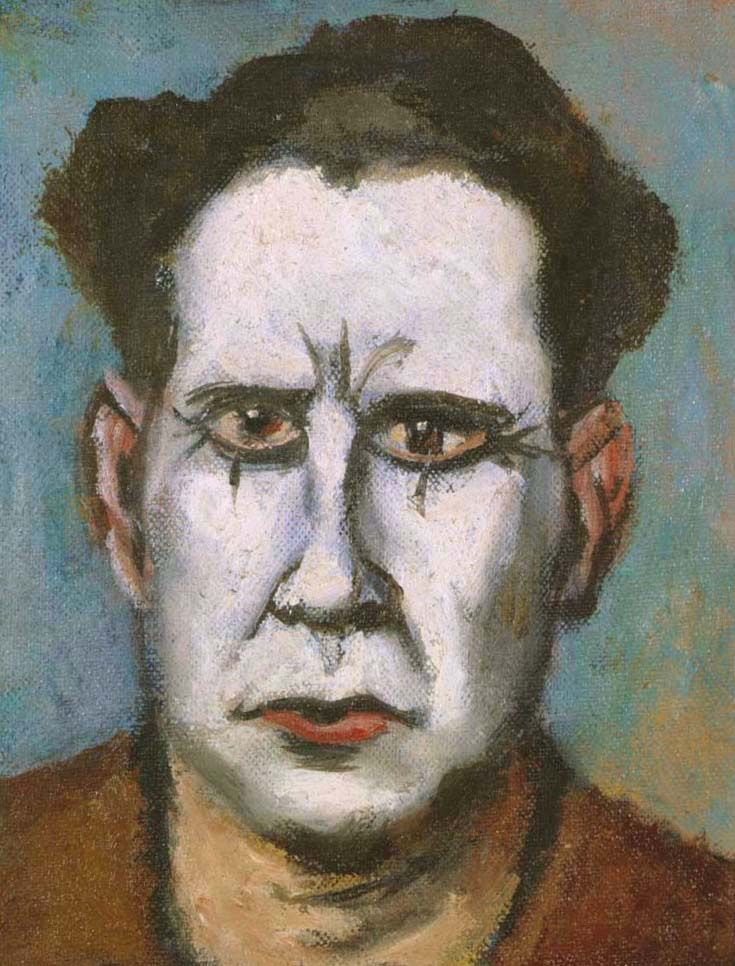Walt Kuhn (1877-1949), White Face Clown with Full Head of Hair