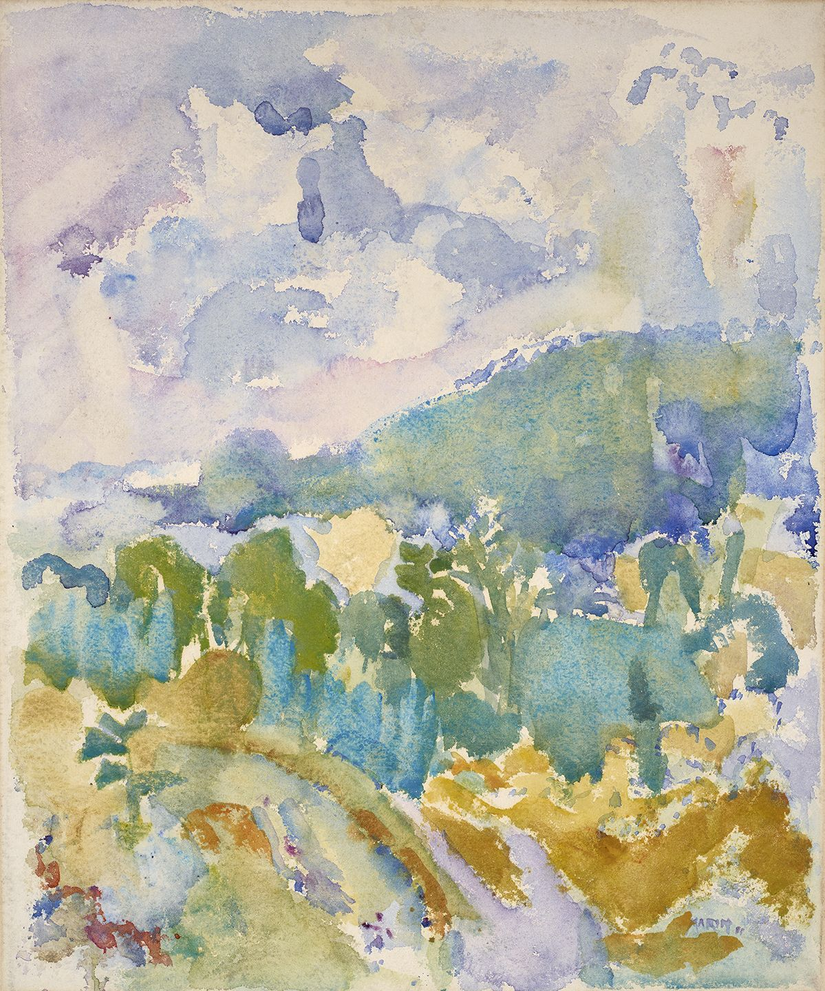John Marin (1870-1953), Hudson River Valley, 1911