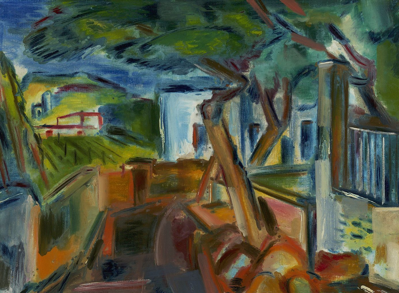 Vaclav Vytlacil (1892-1984), Landscape with Houses and Trees, circa 1924