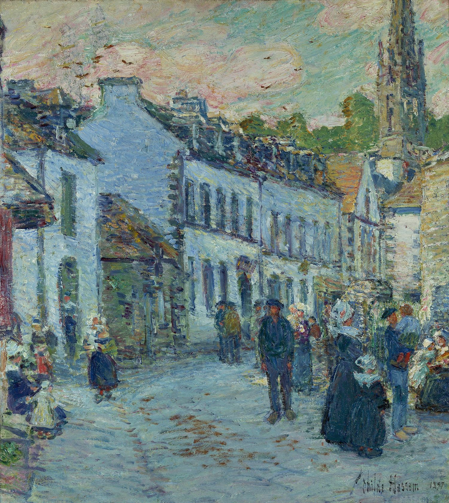 Frederick Childe Hassam (1859-1934), Street in Pont-Aven, Evening, 1897