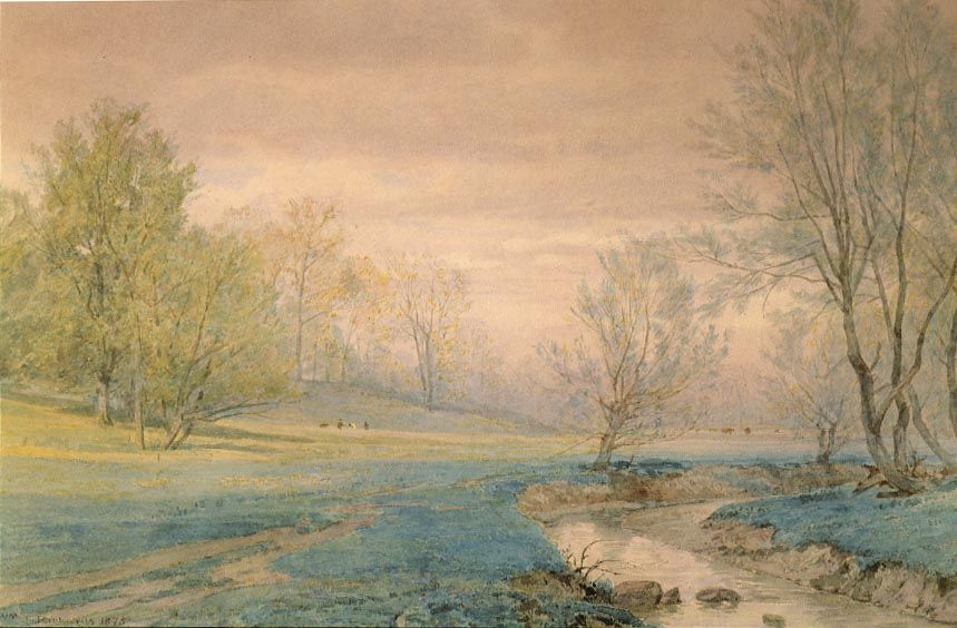 William Trost Richards (1833-1905), Early Spring, Germantown, 1875