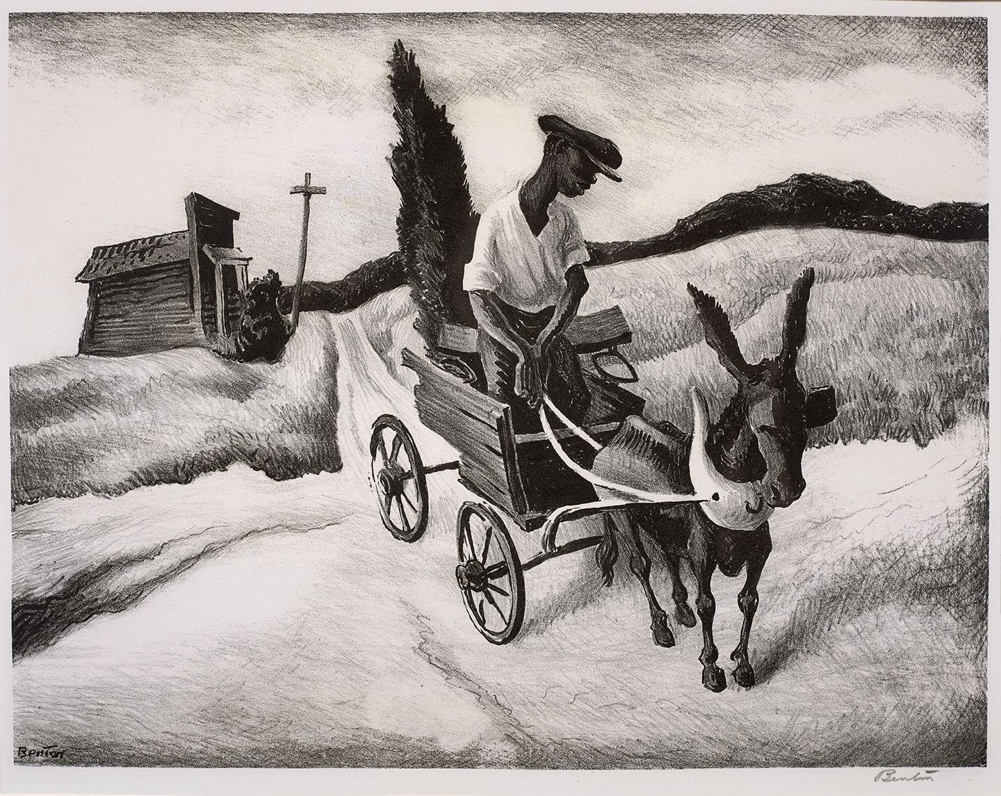Thomas Hart Benton (1889 – 1975), Lonesome Road, 1938