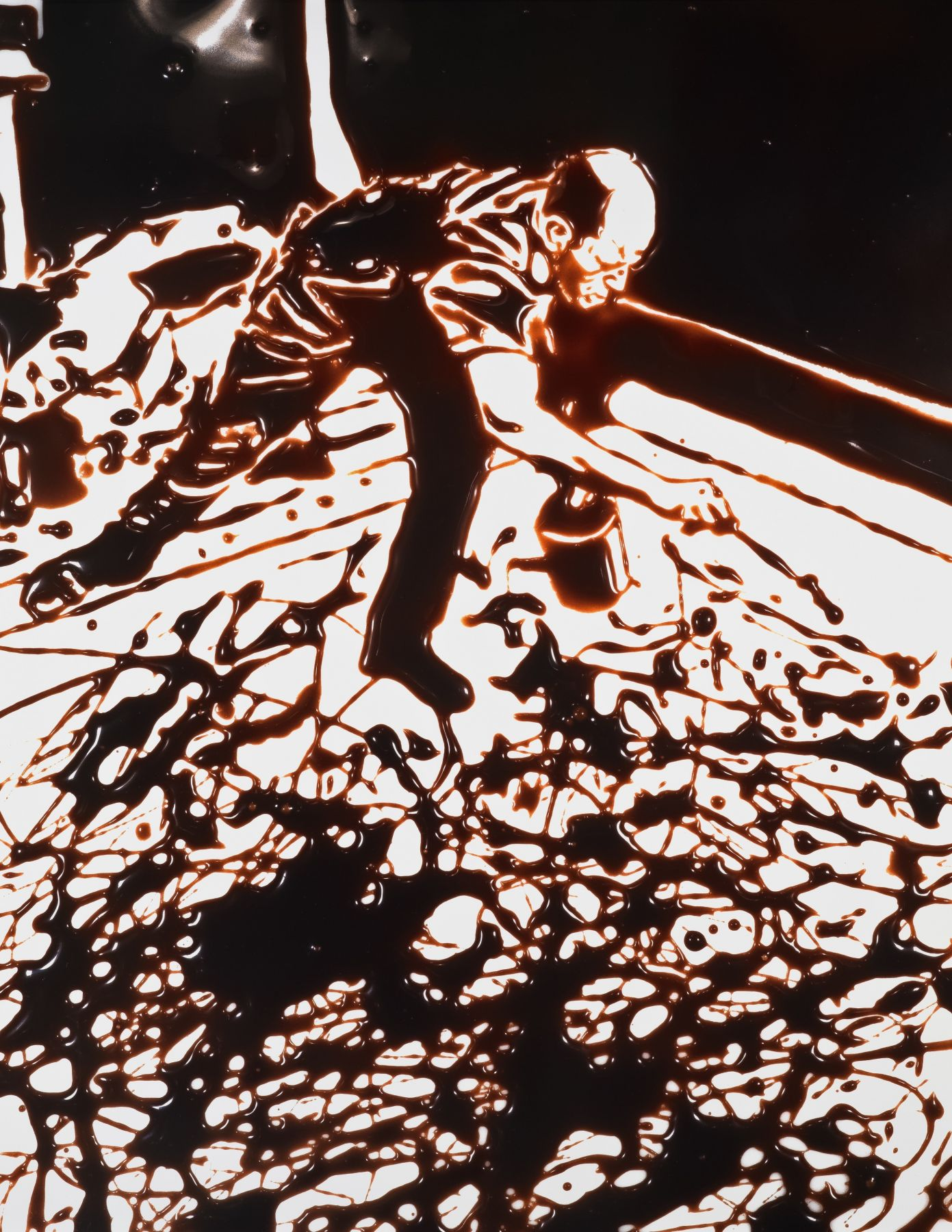 vik muniz Action Photo, After Hans Namuth Photographing Jackson Pollock, from the Pictures of Chocolate series