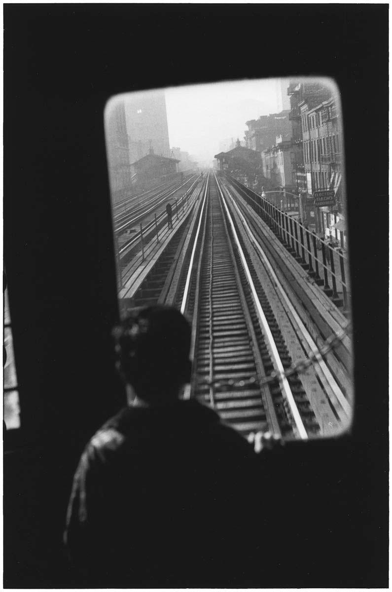 Third Avenue El, New York City, 1955