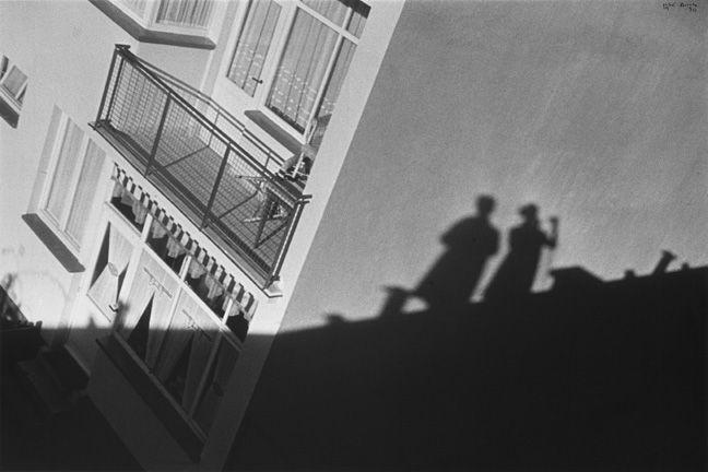 Ilse Bing Self-Portrait with Mart Stam and Leica, Frankfurt