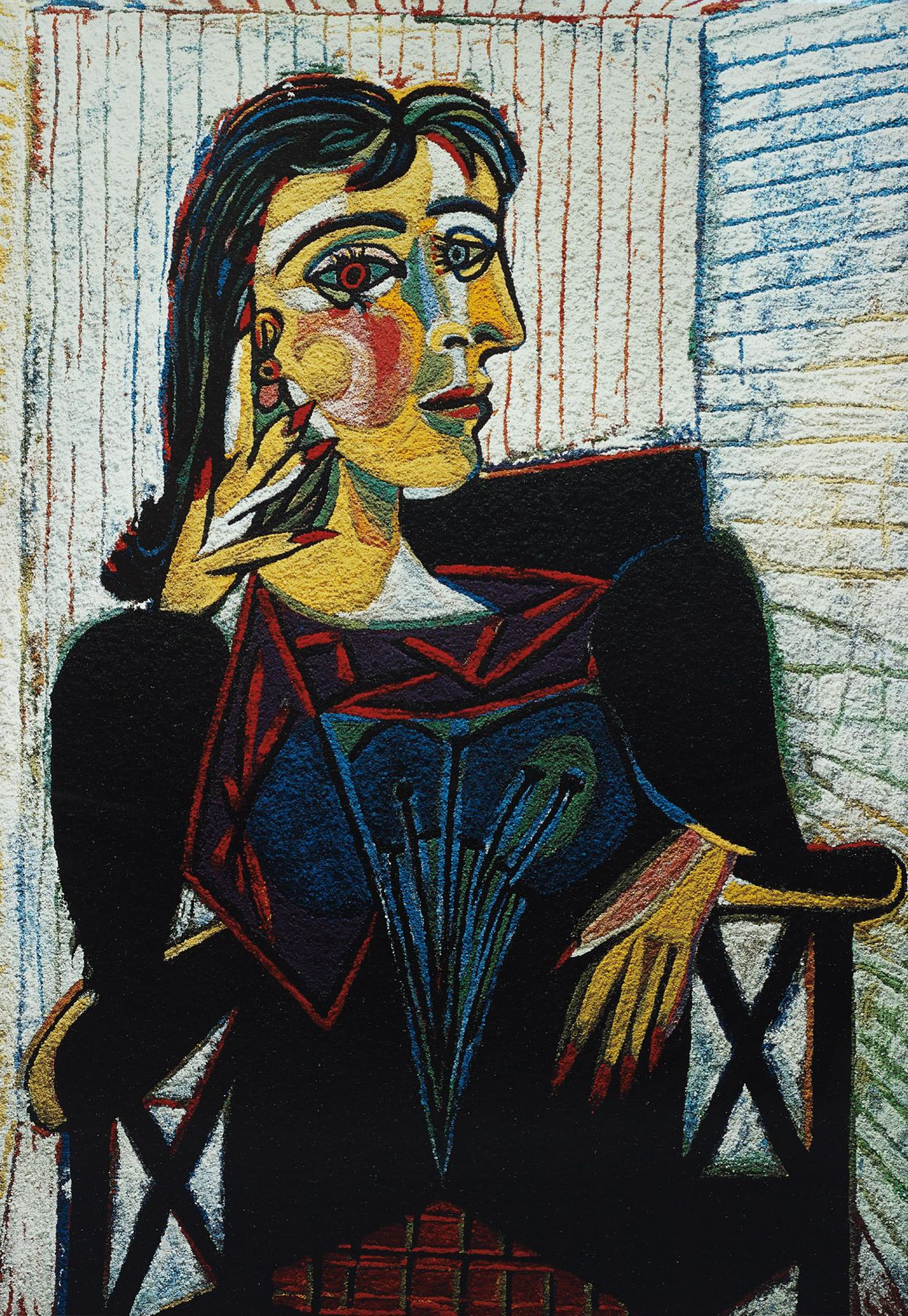vik muniz Dora Maar, After Picasso, from the Pictures of Pigment series