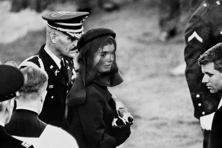 Jacqueline Kennedy at John F. Kennedy's Funeral, 1963