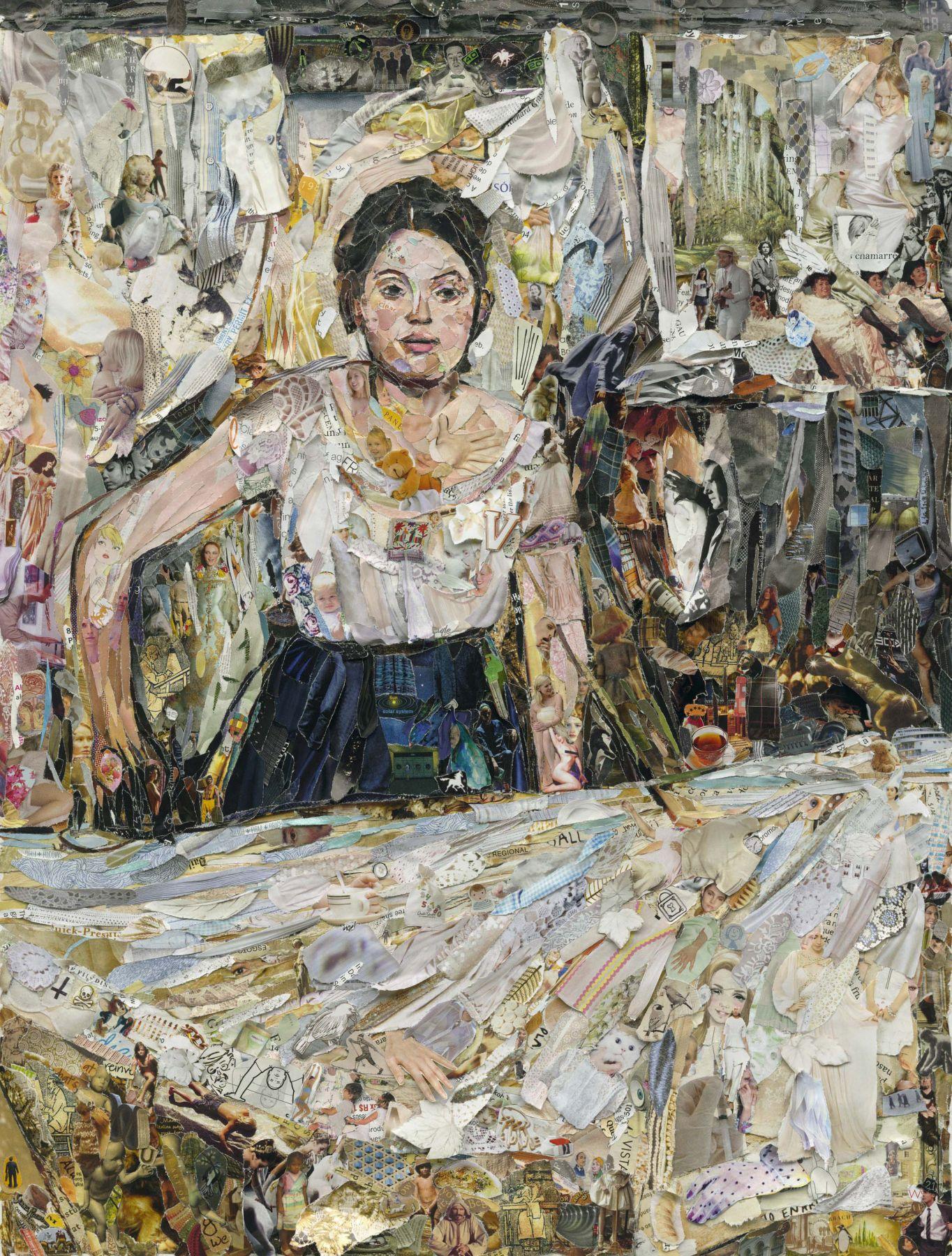 vik muniz woman ironing, after edgar degas