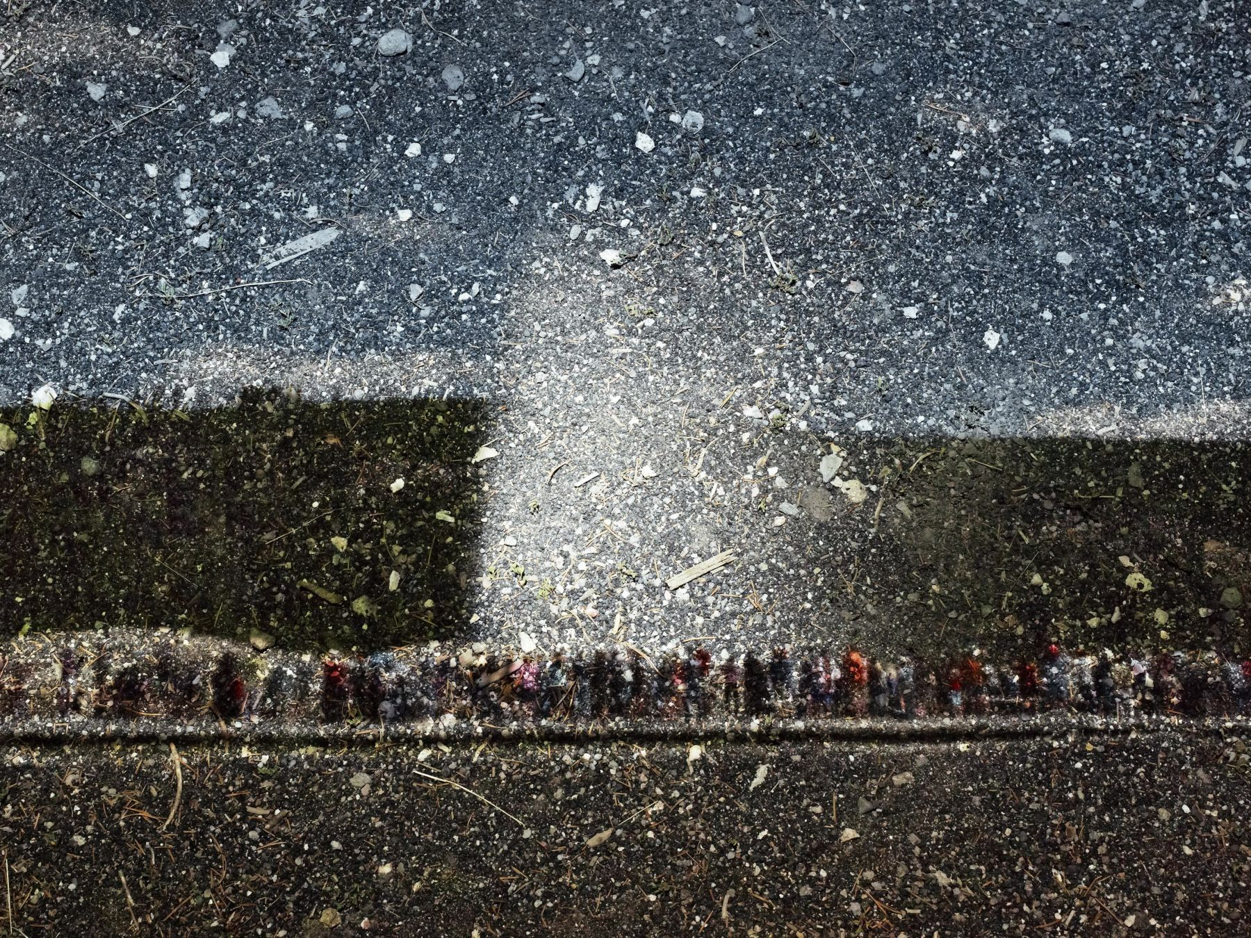 abelardo morell Tent-Camera Image on Ground: View of Old Faithful Geyser, Yellowstone National Park, Wyoming