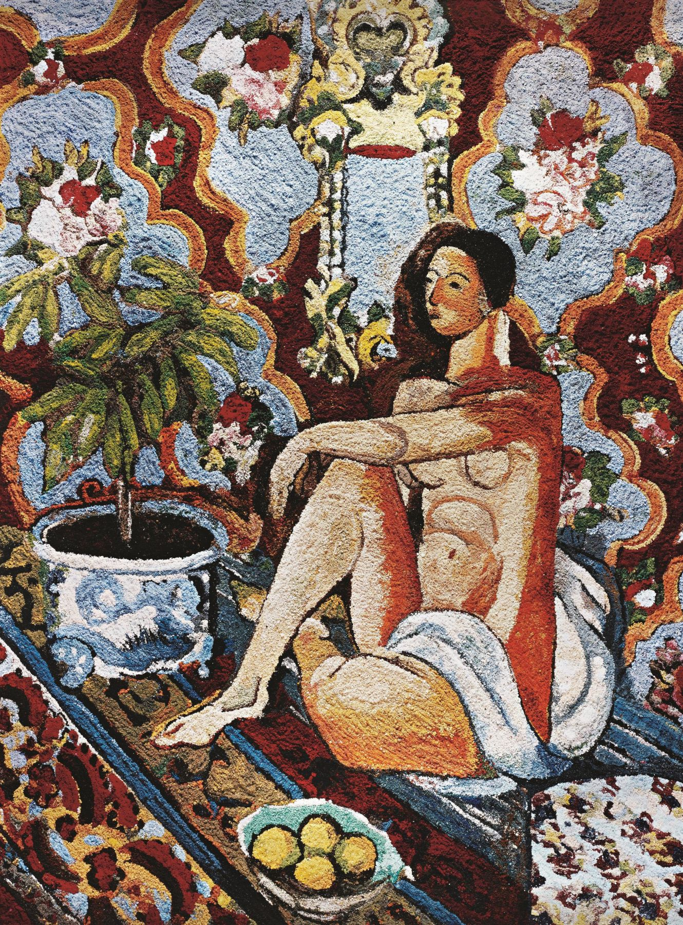 vik muniz decorative Figure on Ornamental Background, After Matisse, from the Pictures of Pigment series