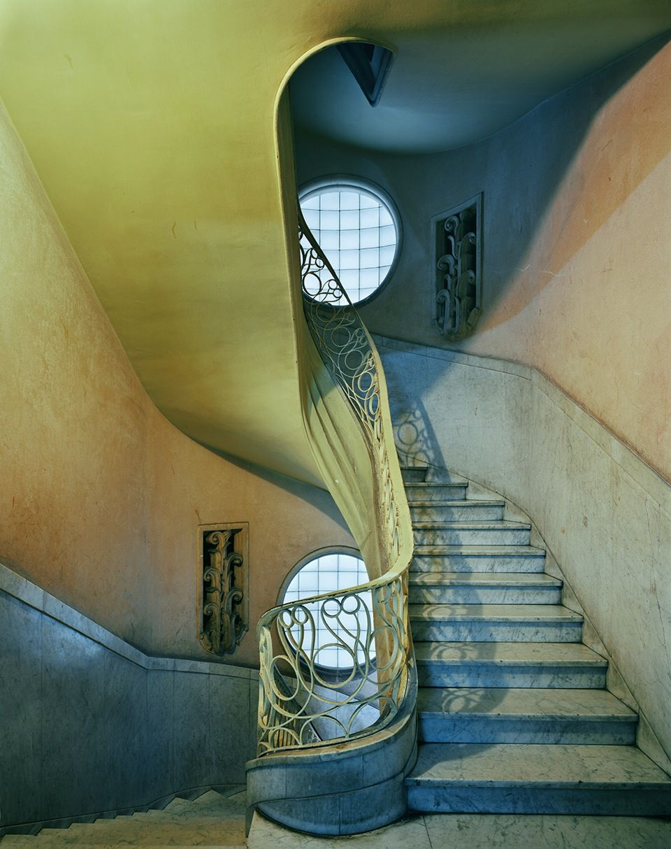 michael eastman deco stairwell, havana