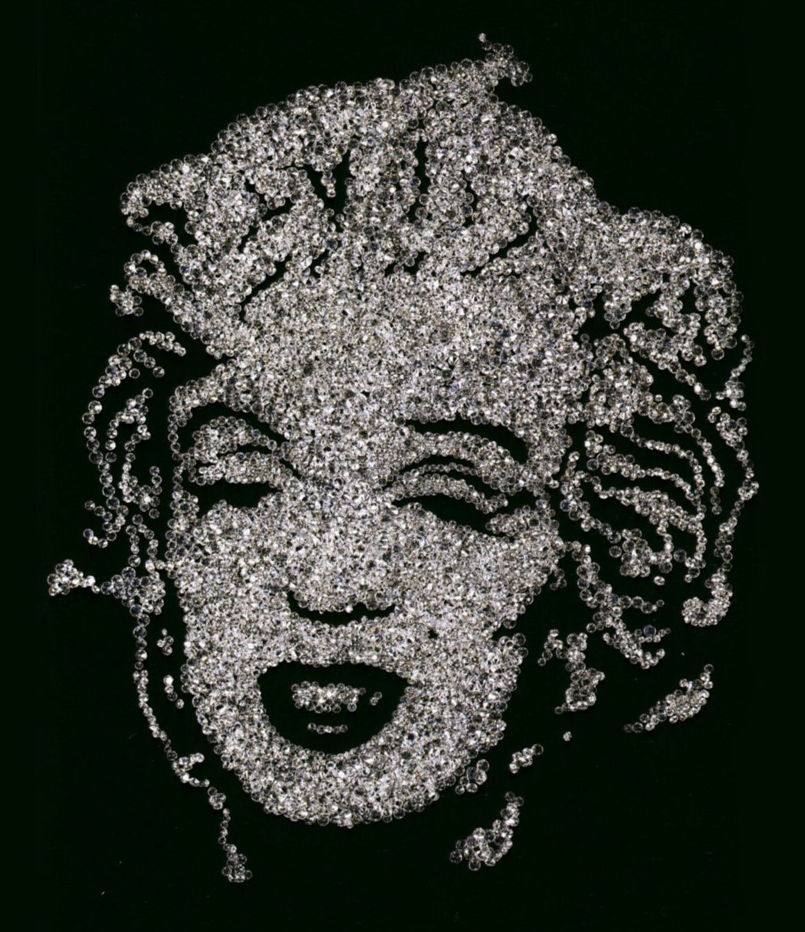 vik muniz Marilyn Monroe, from the Pictures of Diamonds series