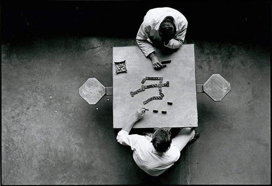 danny lyon cell block table the walls