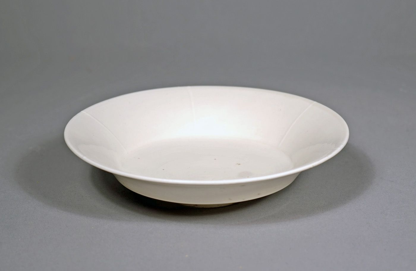 Chinese White Glazed Footed Dish