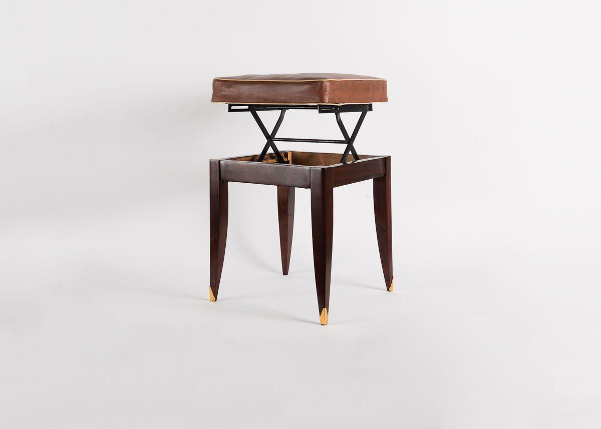 Adjustable Square Piano Stool