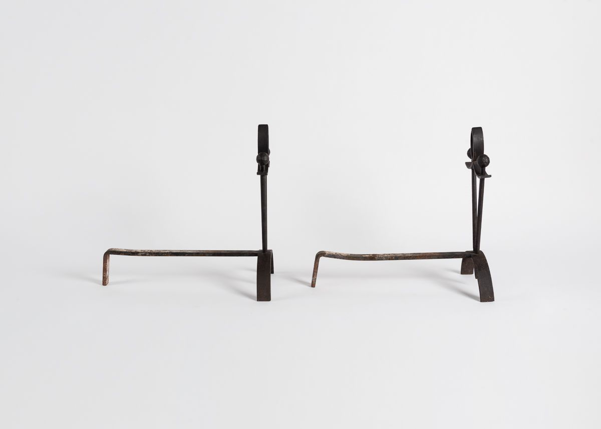 Pair of Tapered Andirons