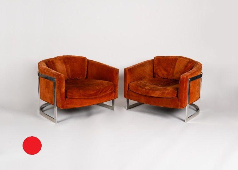 Orange armchairs sold