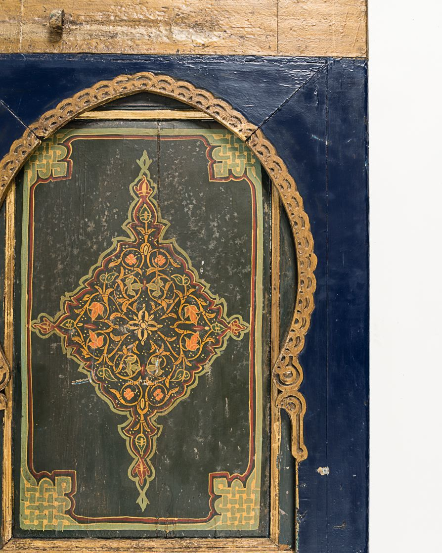 Set of Two Fine and Rare Painted Doors