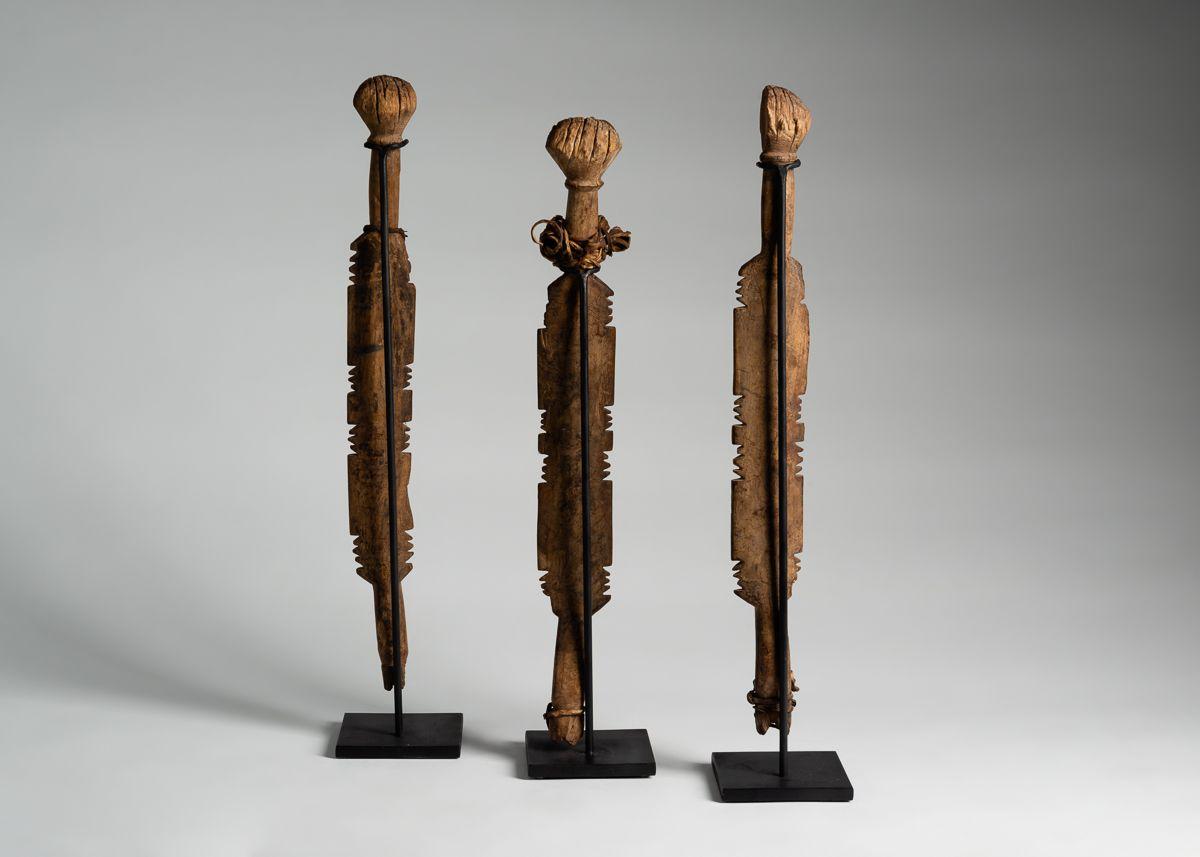 Set of Three Ceremonial Staves