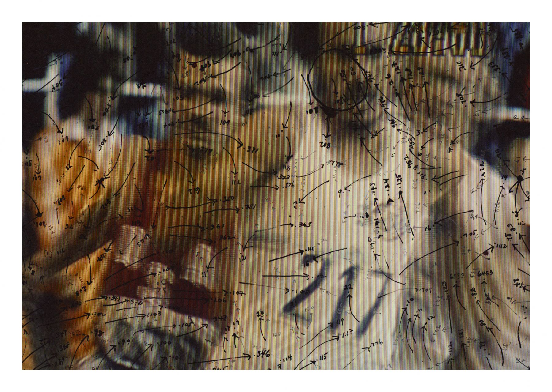 Video Drawings: Track, 1975, Chromogenic print