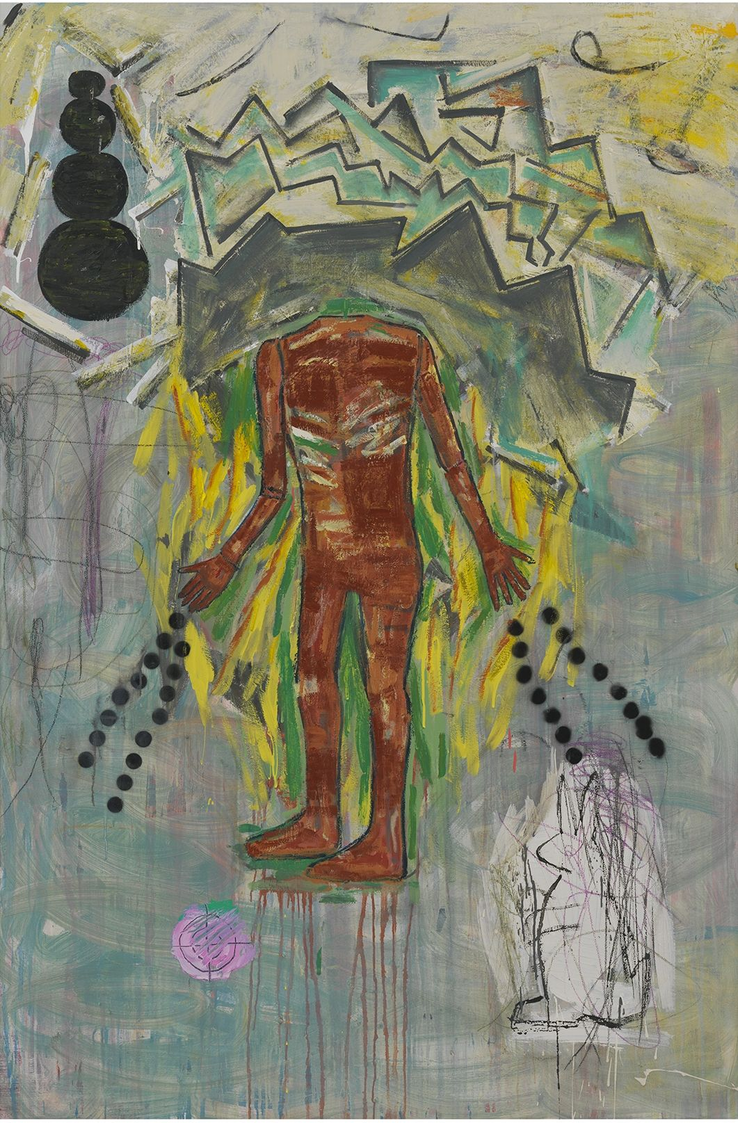 Black Ice, 2011, Mixed media on canvas