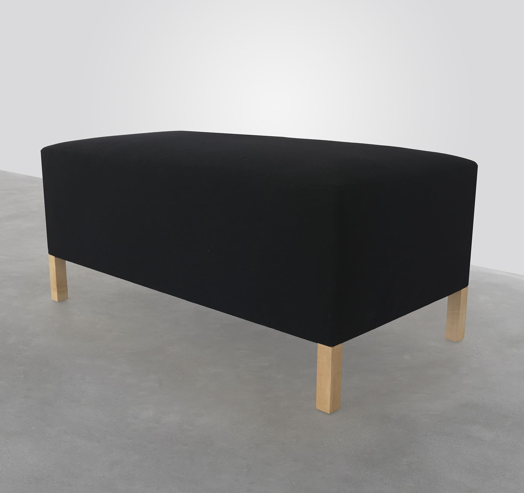 Untitled, 1986, Upholstery and clear oil on eastern maple