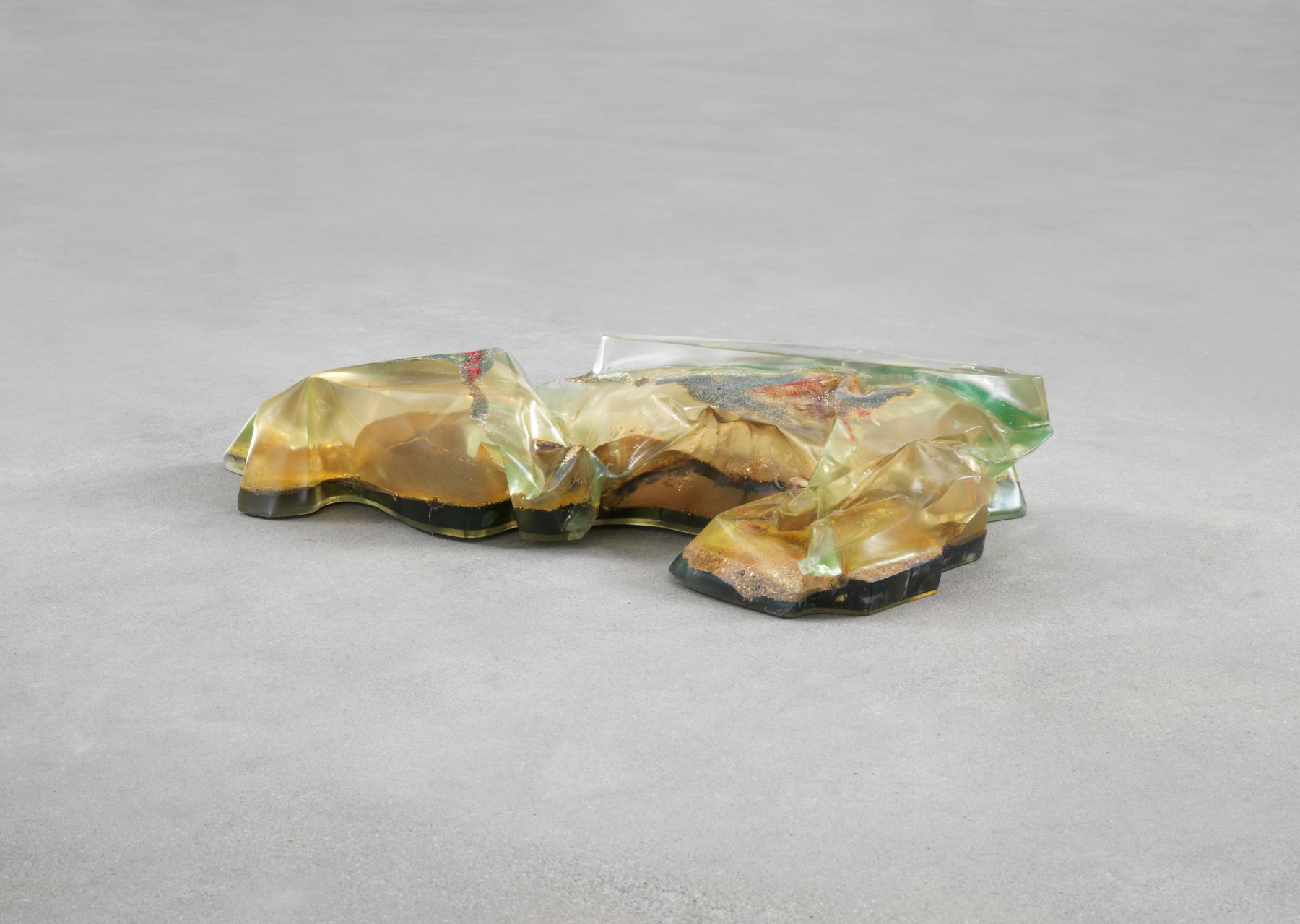 Bennington VI, 1970, Polyester resin, milled glass, plaster, glitter, and dry pigment
