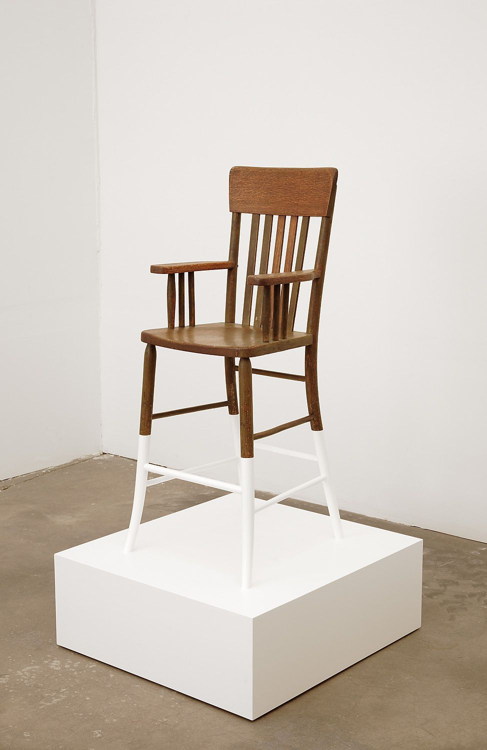 Untitled, 2008, Enamel paint on plywood, found chair