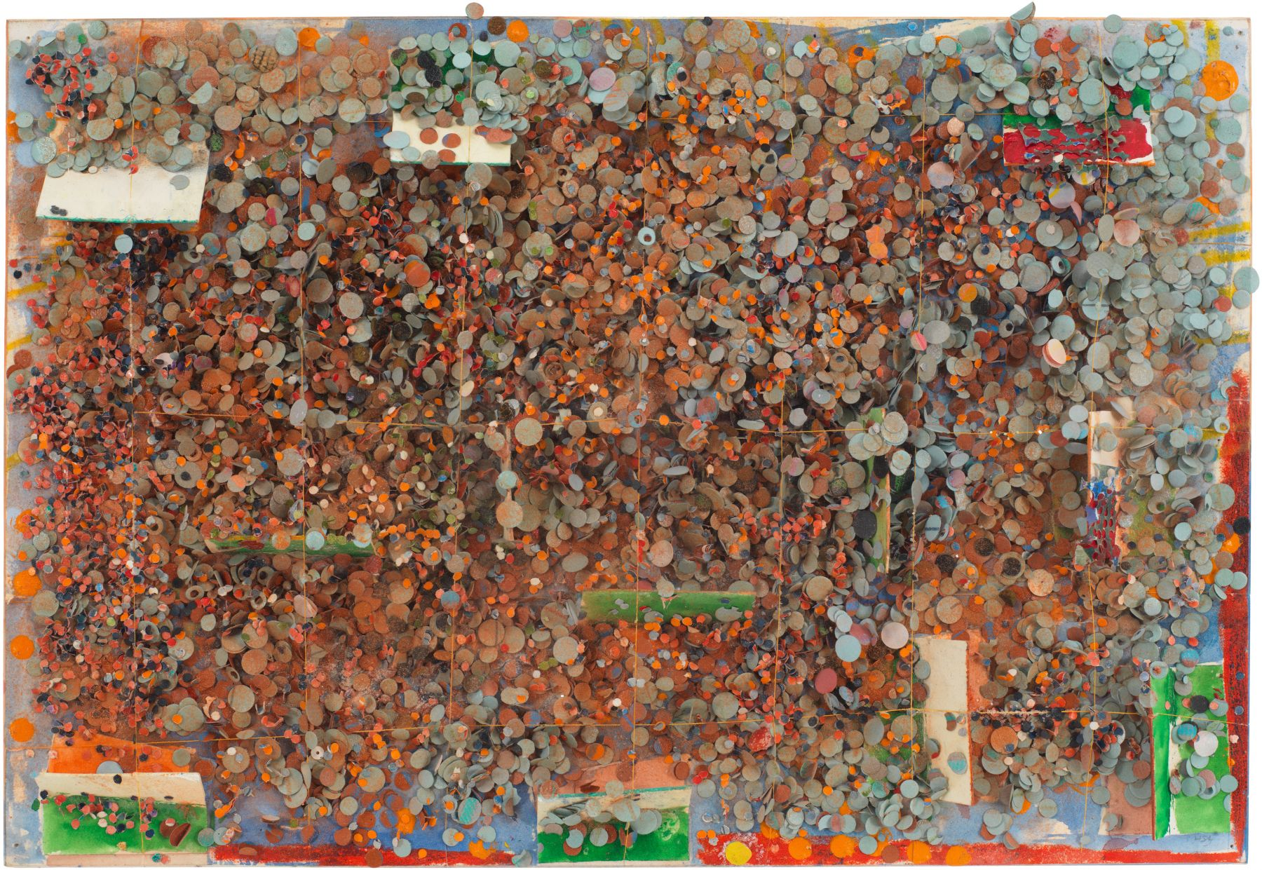 Untitled #84, 1977, Mixed media on board