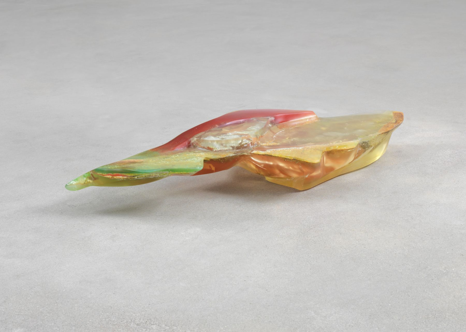 Bennington IV, 1970, Polyester resin, milled glass, plaster, glitter, and dry pigment