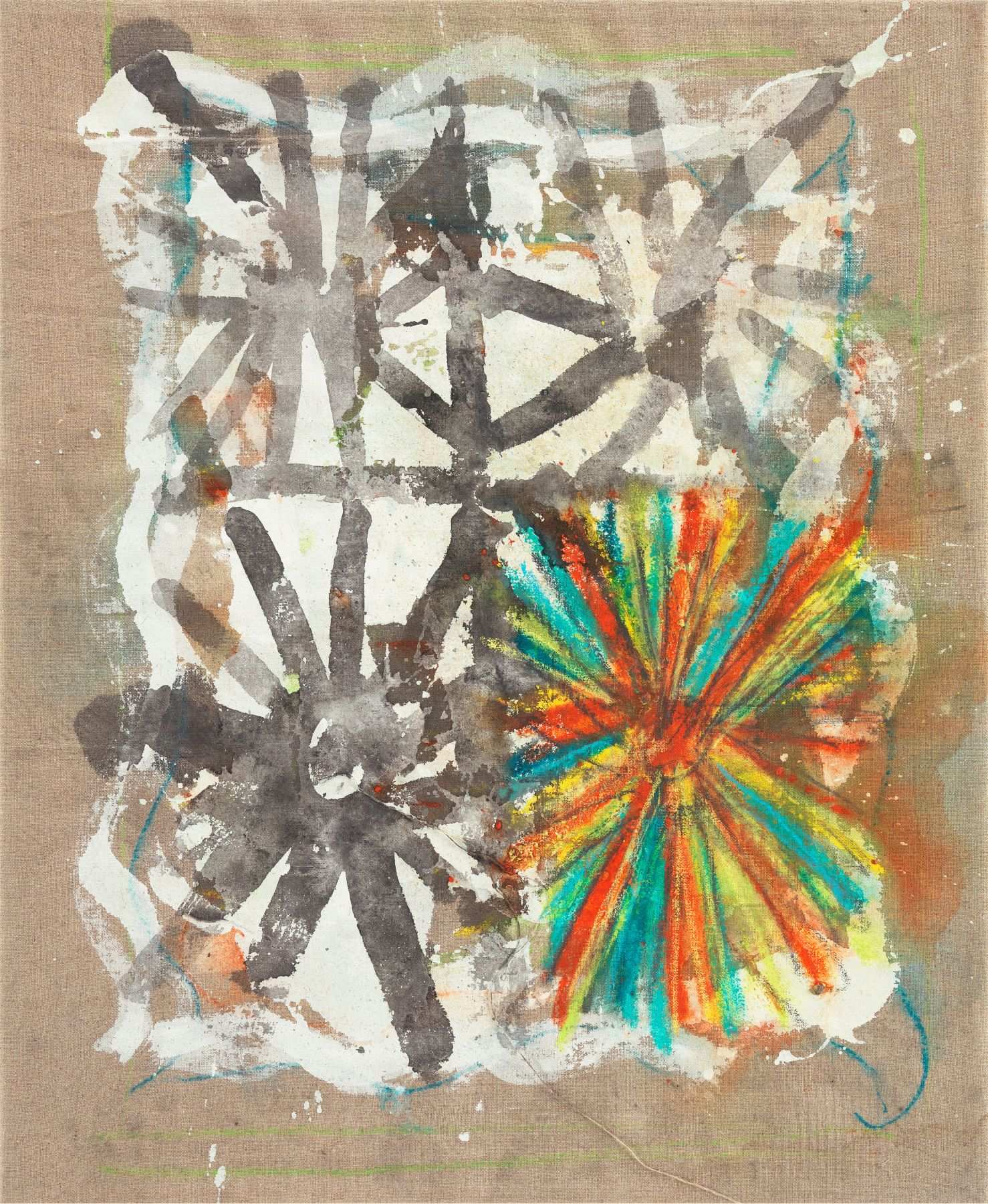 Ohne Titel, 1994, Oil, pastel and acrylic on linen