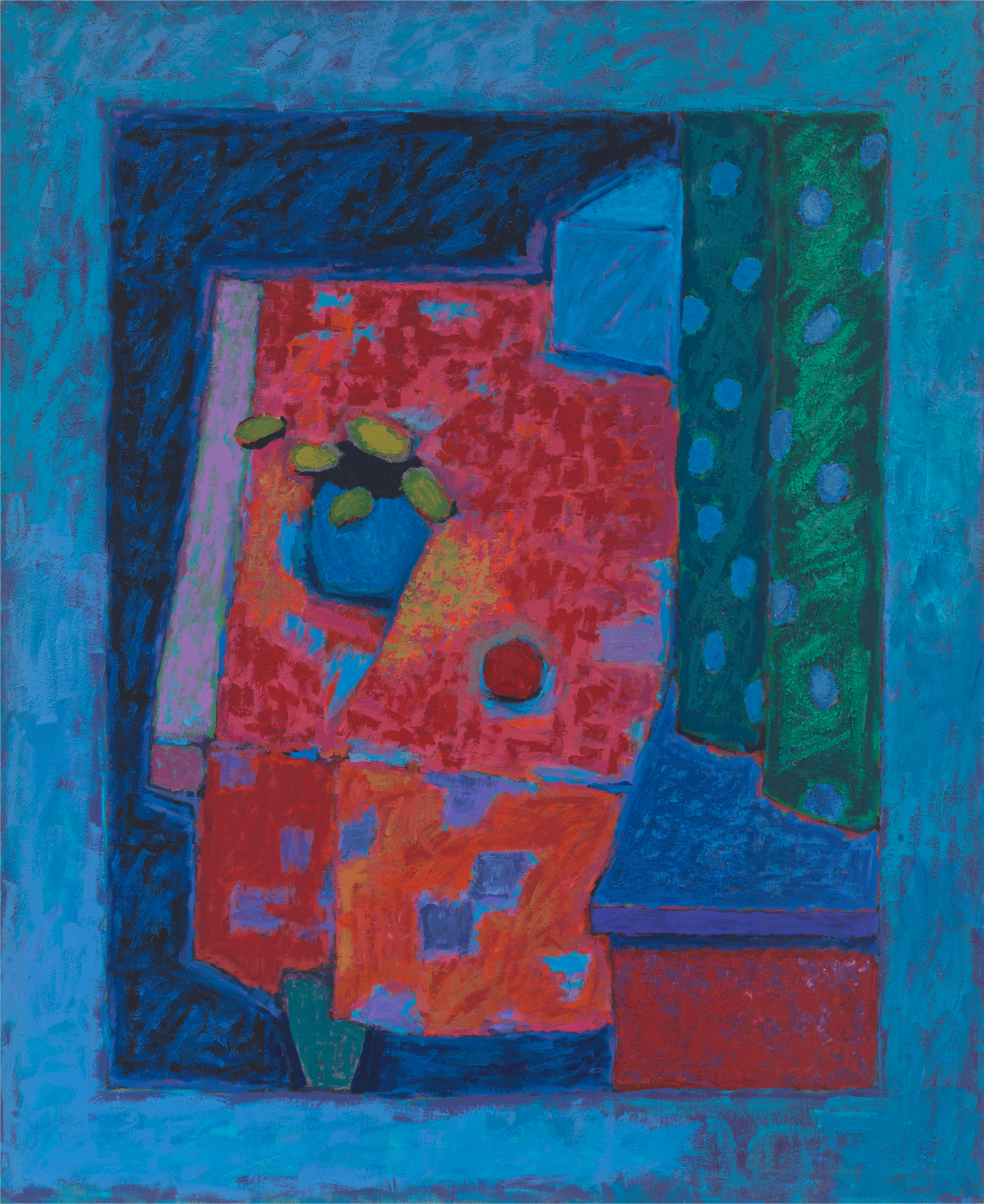 Untitled, 1985–1987, Casein and modeling paste on wood