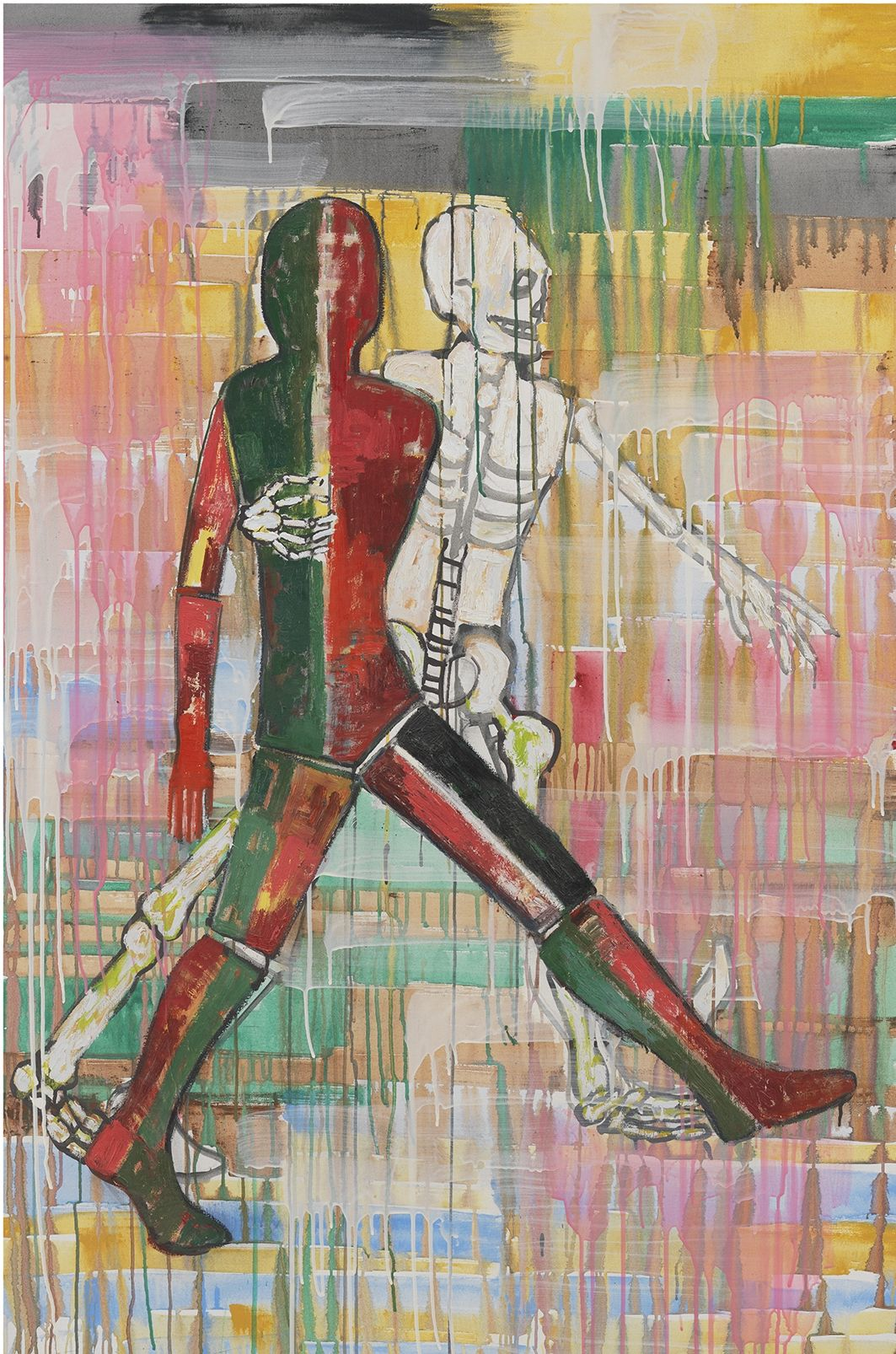 Waltz, 2002, Mixed media on canvas