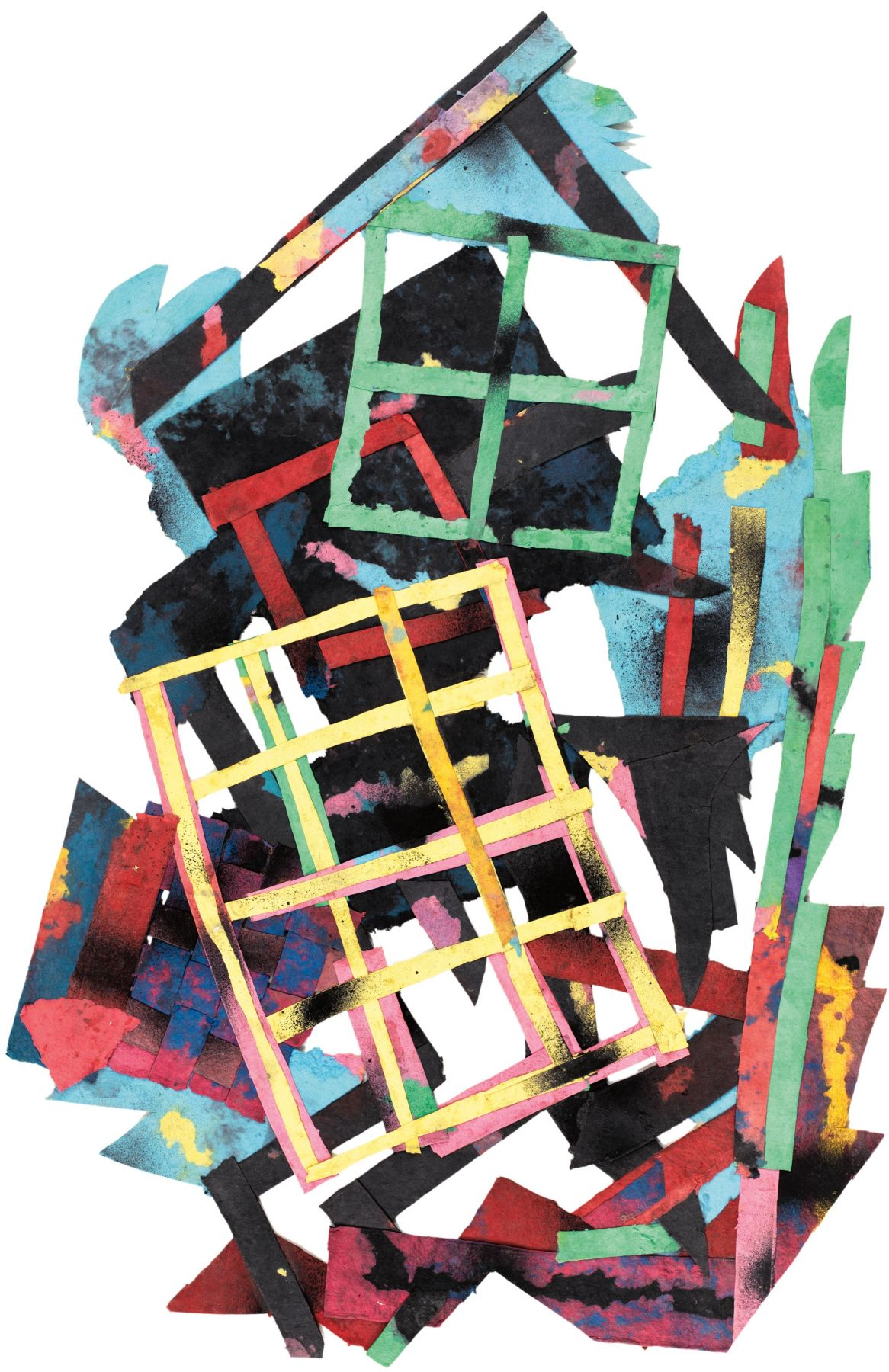 Mercer Street #9, 1988, Paper collage