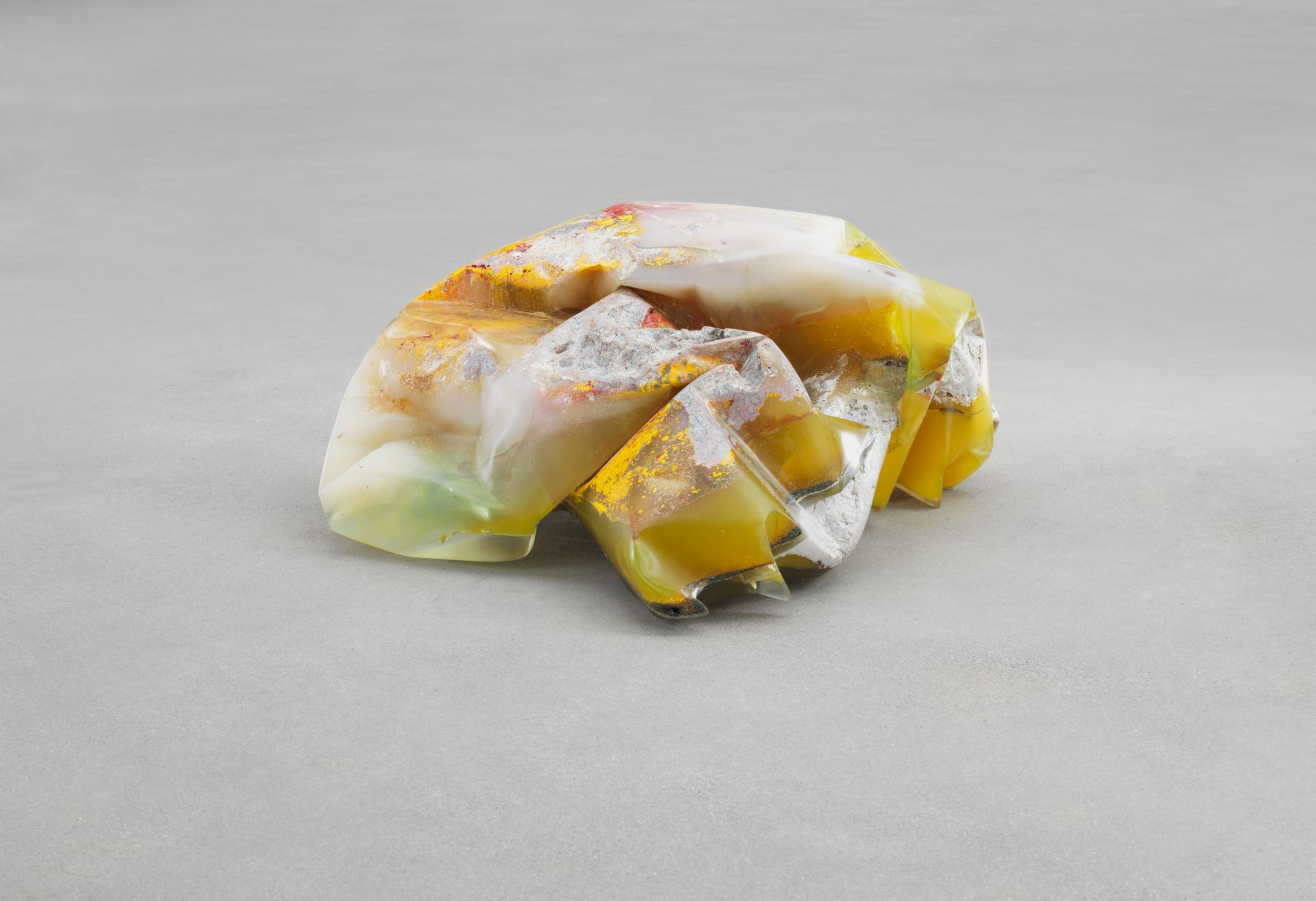 Bennington I, 1970, Polyester resin, milled glass, plaster, glitter, and dry pigment