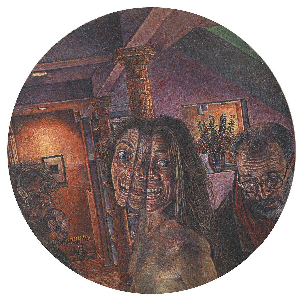 Mark Greenwold, Circle #6 (Split Osis), 1995