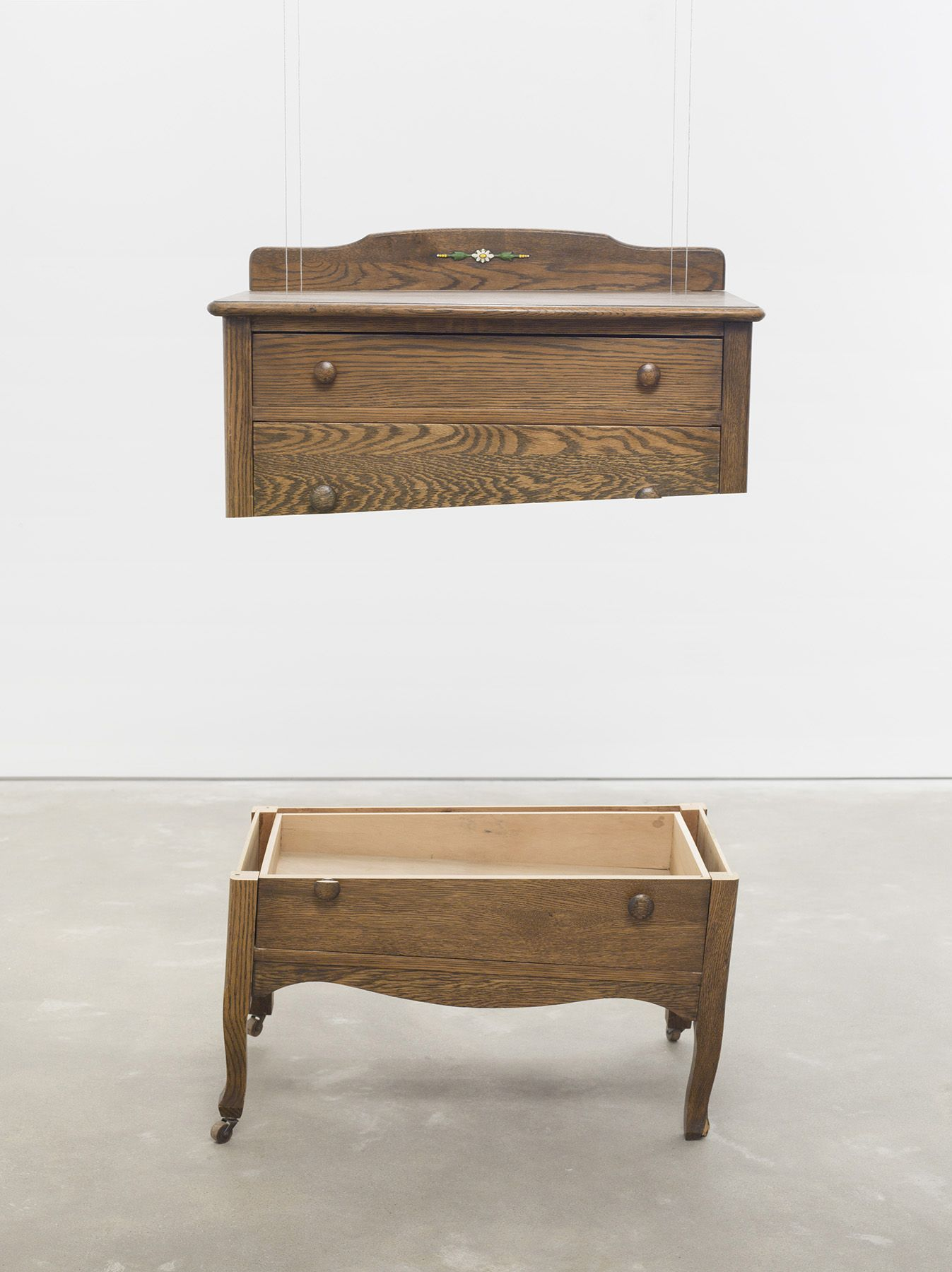 Roy McMakin, A chest of drawers I refinished (and painted the little flower on the back) to put in my sister's room when we were kids, 2011