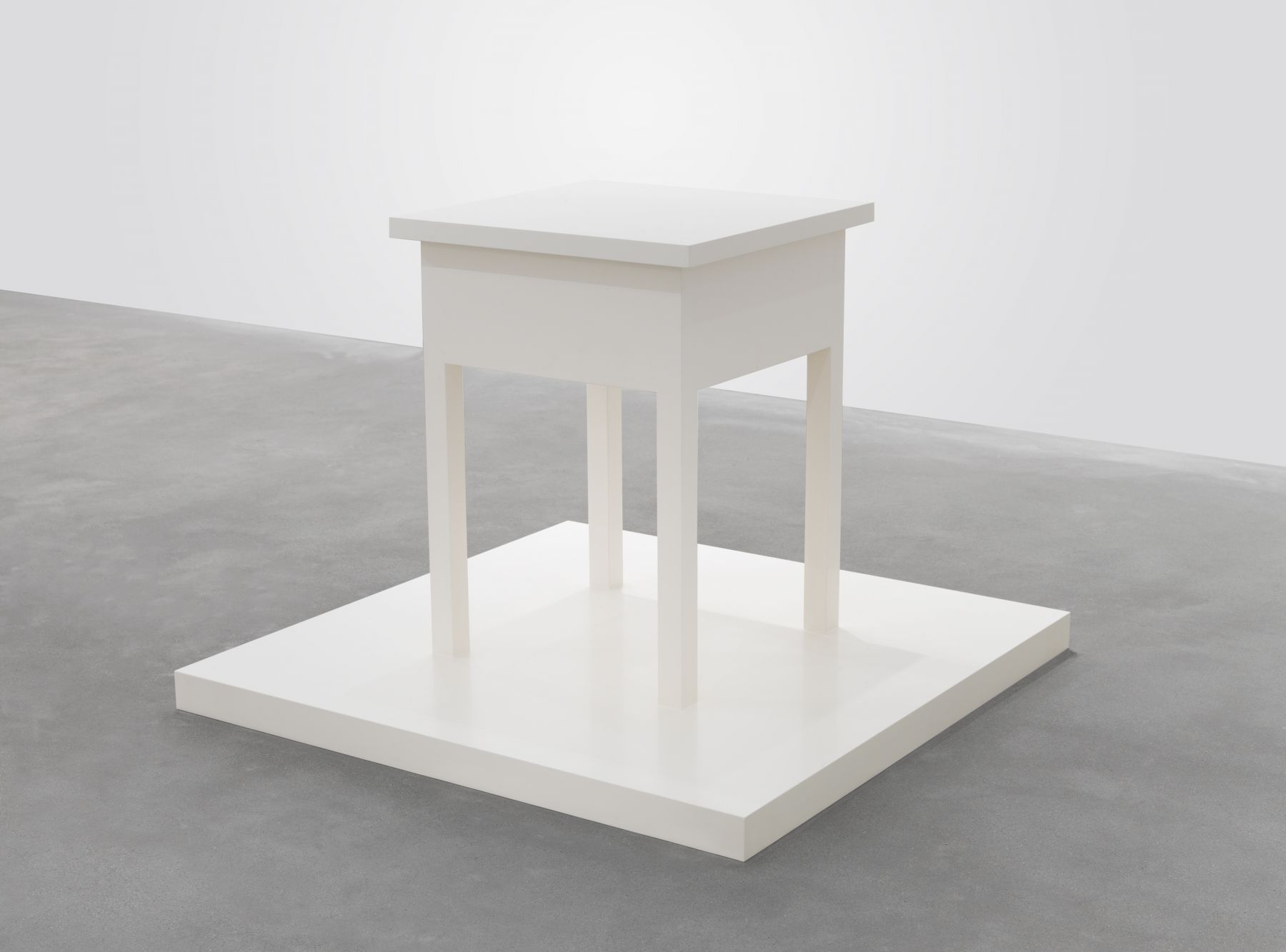 Untitled (table with base), 2005, Enamel on eastern maple