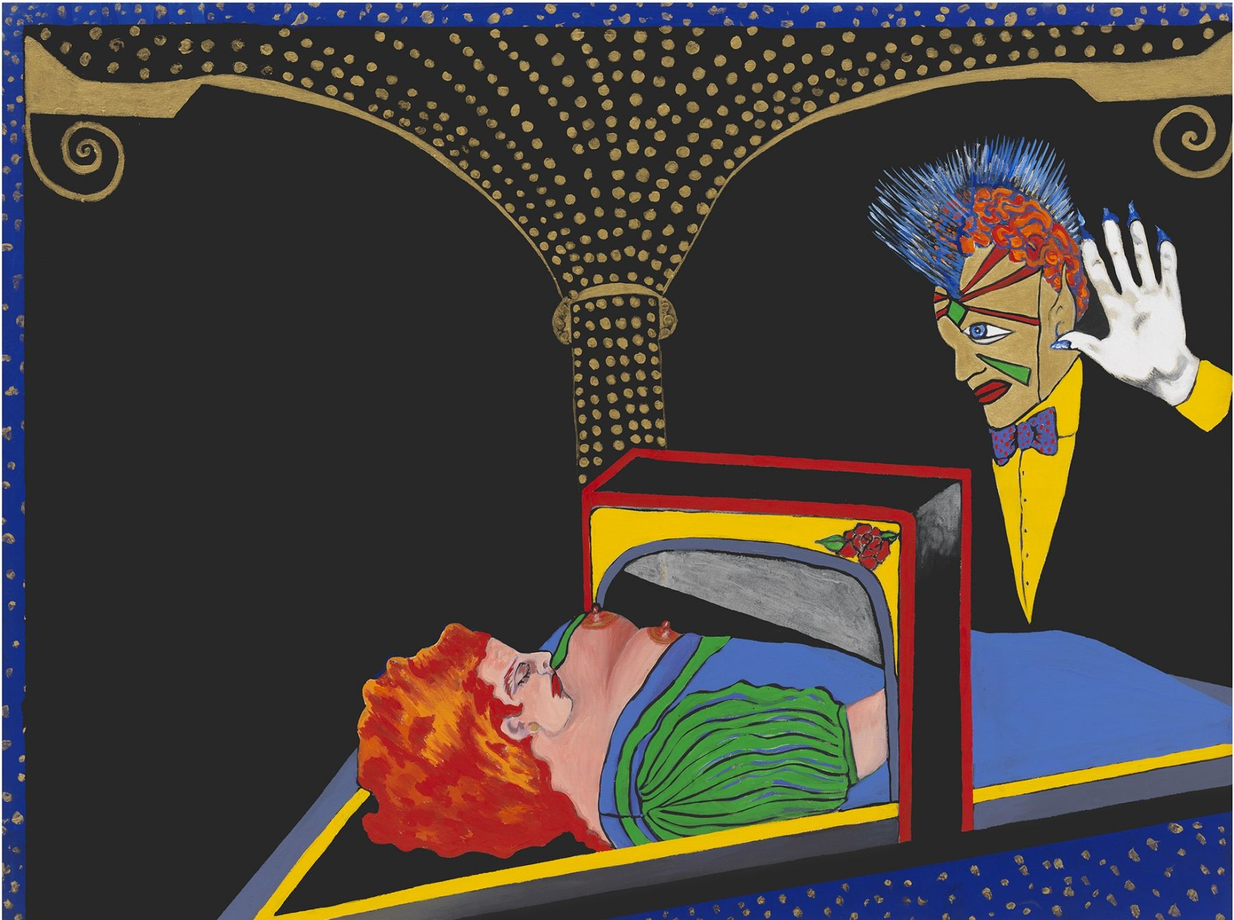 Woman Sawed in Half, 1989, Acrylic on canvas