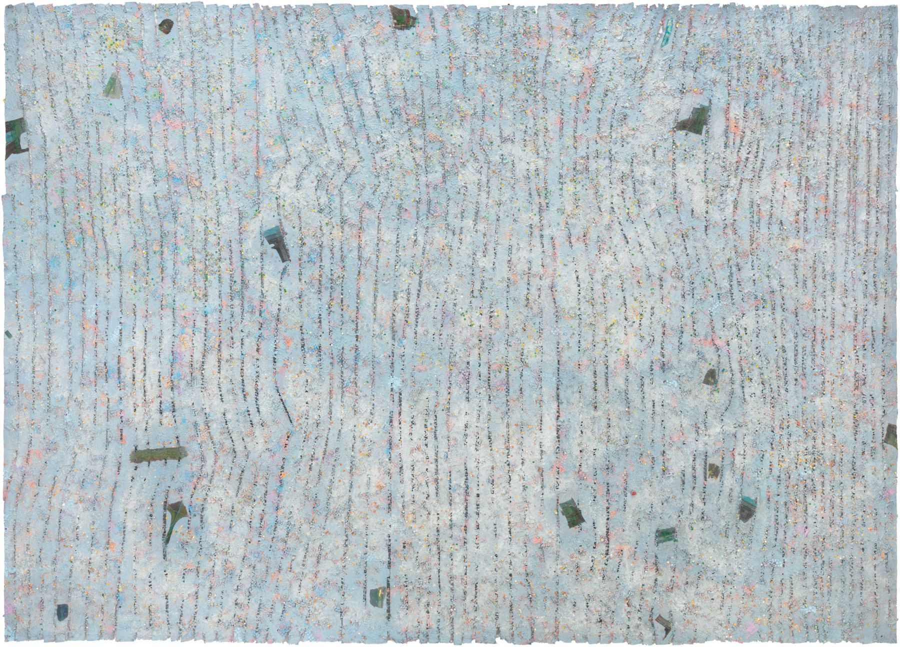 Memory: Future, 1980–1981, Mixed media on canvas