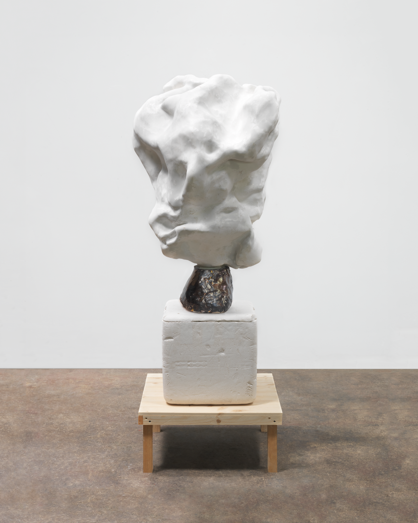 Damned, 2013, Plaster, ceramic, and wood