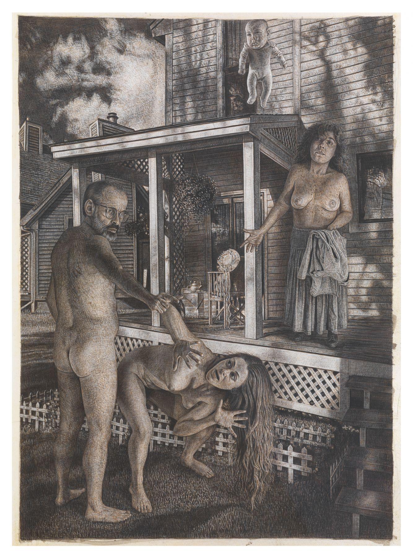 Mark Greenwold, The Backyard, 1988