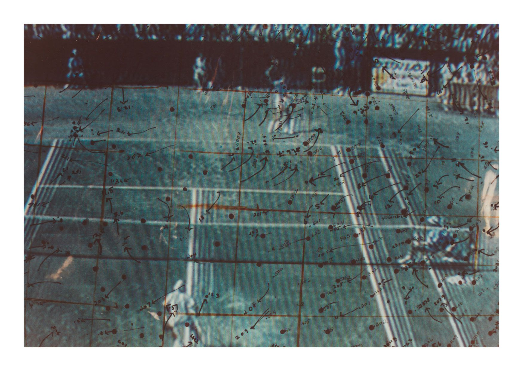 Video Drawings: Tennis, 1975, Chromogenic print