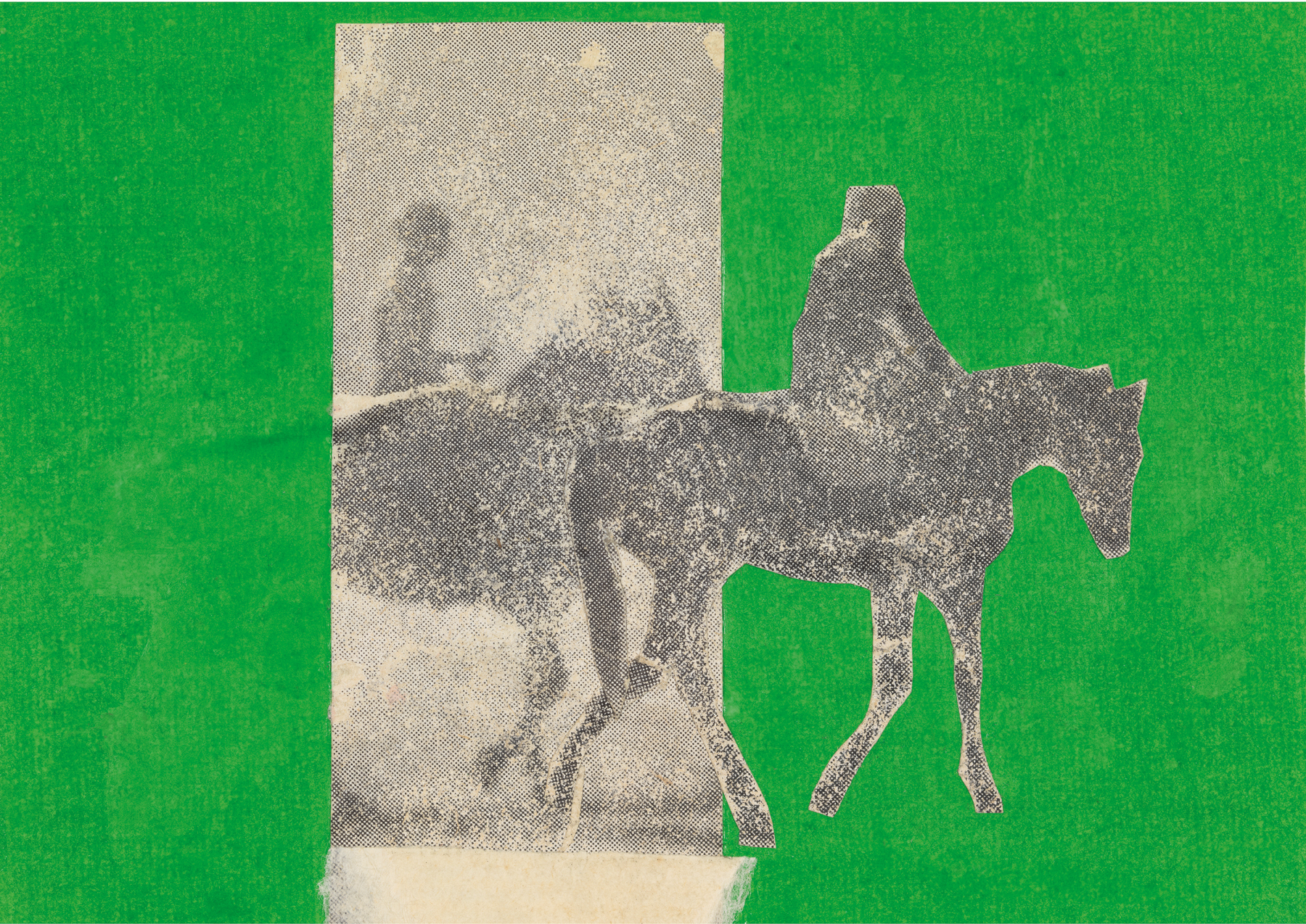 Saddled, 1960, Paper collage